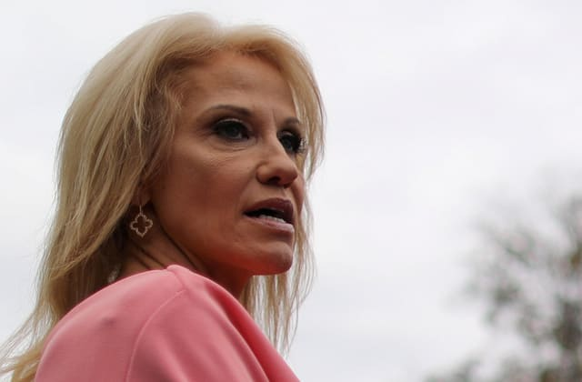Trump: Kellyanne 'must have done some bad things' to George Conway