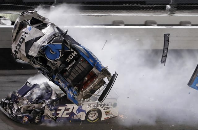 Driver in serious condition after fiery crash at Daytona