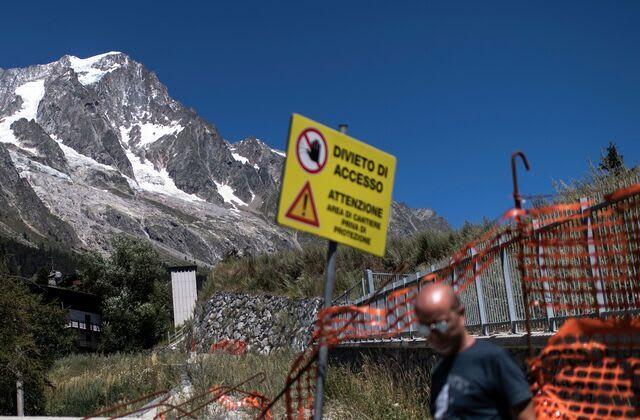 Gletscher bedroht Alpen-Ortschaft