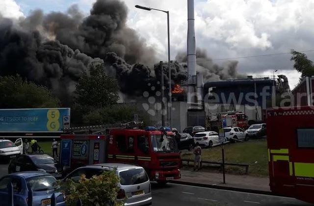 Firefighters battle massive blaze