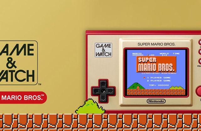 任天堂が往年のゲーム&ウォッチをマリオ版としてカラー画面・USB-C化でリメイク