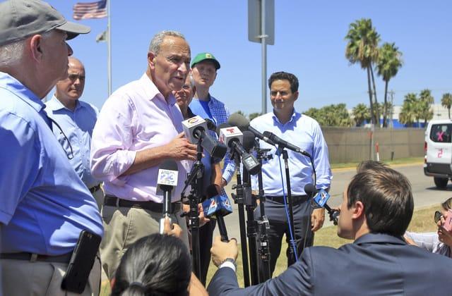 Schumer's 'awful' border visit sparks Trump response