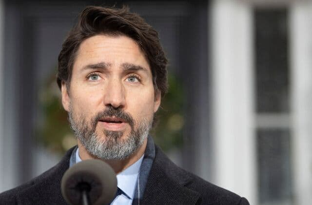 Littlest Trudeau Makes Surprise Appearance At Morning News Conference