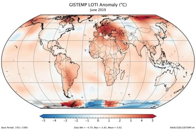 今年六月是史上最热的一个六月