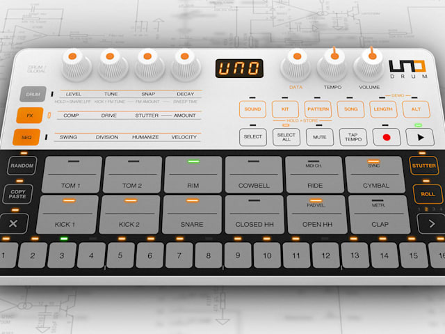 Uno Drum is a $250 drum machine loaded with features