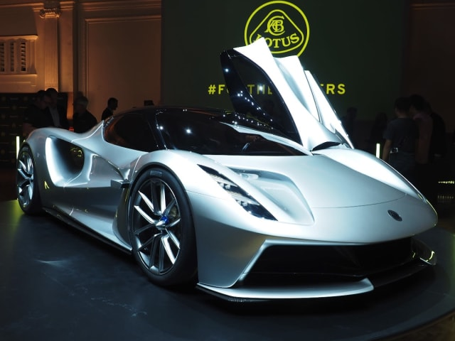 Lotus' all-electric hypercar fully charges in nine minutes