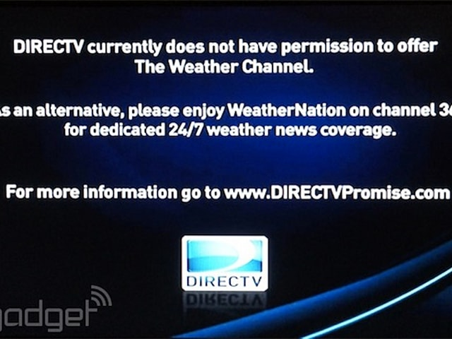 DirecTV drops The Weather Channel, accuses it of loading up