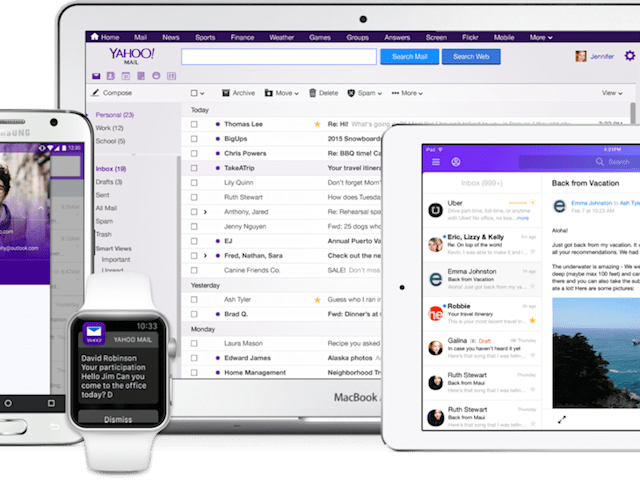 Yahoo Mail drops passwords and adds third-party email