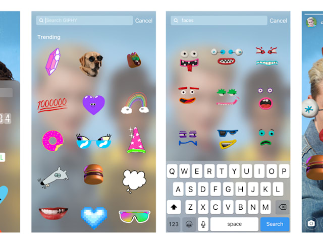 Instagram Stories harness the power of Giphy for animated