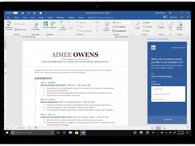 Microsoft Releases Its LinkedIn Resume Helper For Word