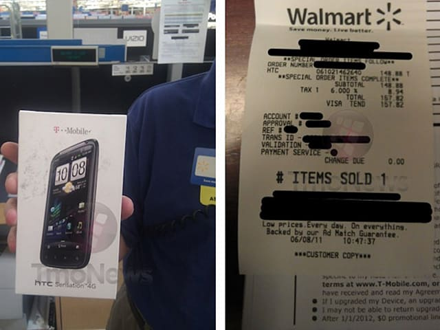 HTC Sensation 4G selling entirely too early at some Walmart