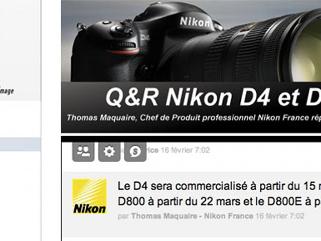 Nikon D4 and D800 to ship in March, but only in the land of the