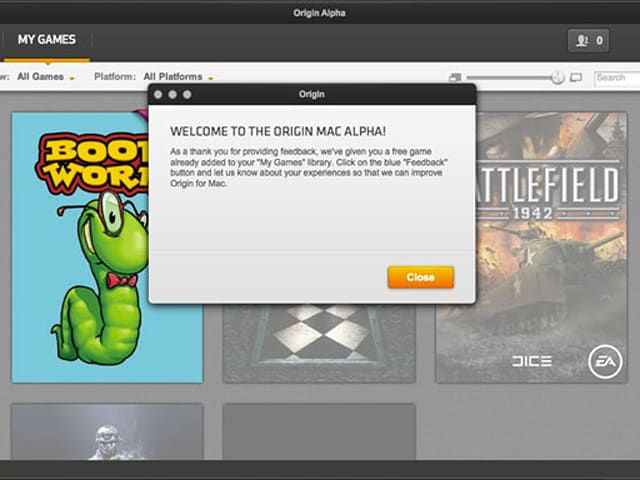 Origin for Mac enters open Alpha, testers gifted with free