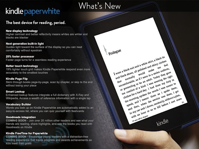 Amazon briefly lists next-generation Kindle Paperwhite with new
