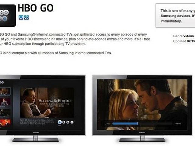 HBO Go rolls out to most Samsung Smart HDTVs -- but not through all  providers   Engadget
