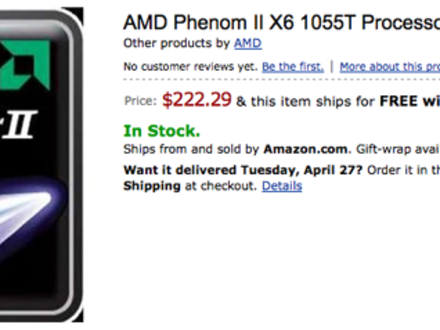 Amd S Six Core Phenom Ii X6 1055t Cpu Now Shipping 1090t Up For Pre Order Engadget