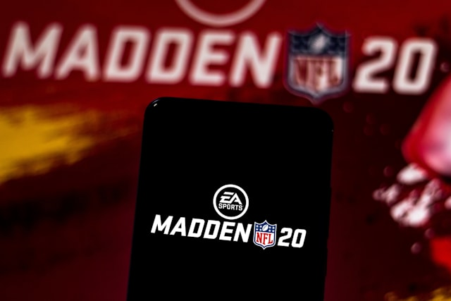 BRAZIL - 2019/06/12: In this photo illustration the Madden NFL 20 logo is displayed on a smartphone. (Photo Illustration by Rafael Henrique/SOPA Images/LightRocket via Getty Images)