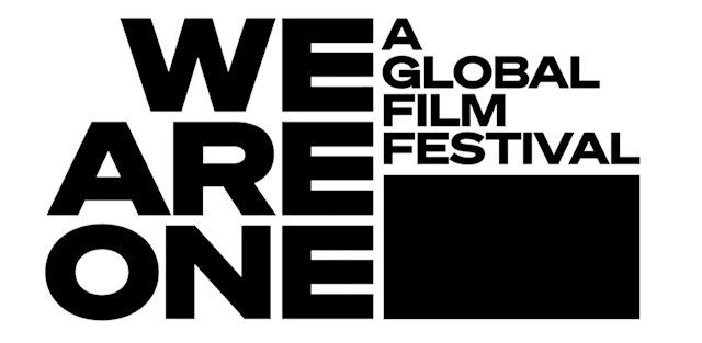 The logo of We Are One, an international film festival coming to YouTube.