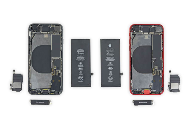 Apple iPhone 8 and iPhone SE torn down