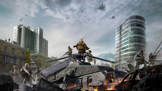 A promotional image for Call of Duty: Warzone