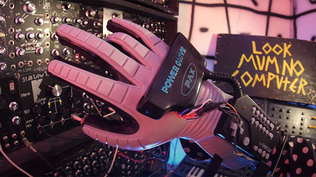 Look Mum No Computer's Power Glove hacked to control a modular synth