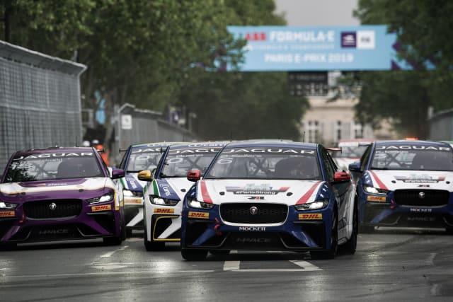 Jaguar I-Pace eTrophy race in Paris, April 2019
