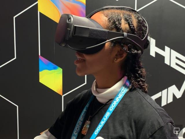Oculus Link demonstration on Oculus Quest