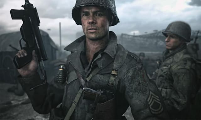 A screenshot from Call of Duty: WWII