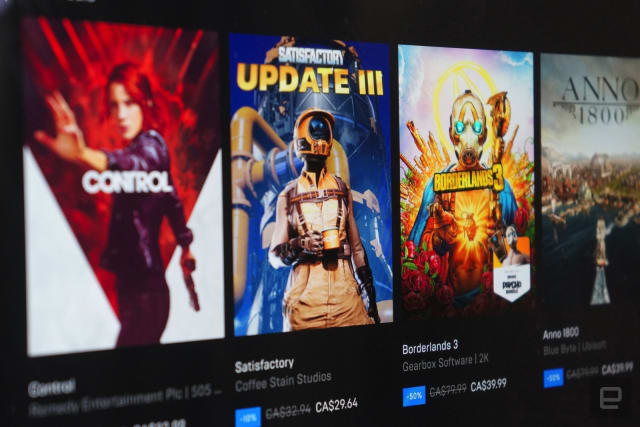 Epic Games Store listings