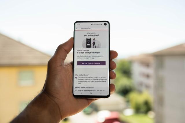 SwissCovid contact tracing app