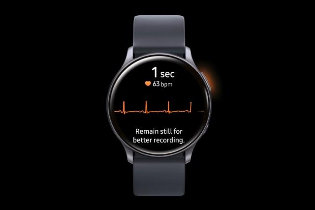 ECG on Samsung Galaxy Watch Active 2