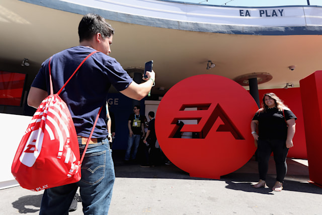 LOS ANGELES, CALIFORNIA - JUNE 08:   Game enthusiasts and industry personnel pose for a photograph during the EA Play 2019 event at the Hollywood Palladium on June 08, 2019 in Los Angeles, California. (Photo by Christian Petersen/Getty Images)