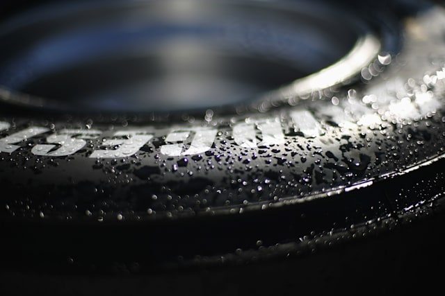 HOCKENHEIM, GERMANY - JULY 19:  Bridgestone tyre detail is seen following qualifying for the German Grand Prix at Hockenheimring on July 19, 2008 in Hockenheim, Germany.  (Photo by Vladimir Rys/Bongarts/Getty Images)