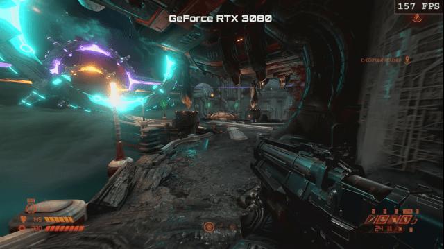 Doom Eternal running on the GeForce RTX 3080
