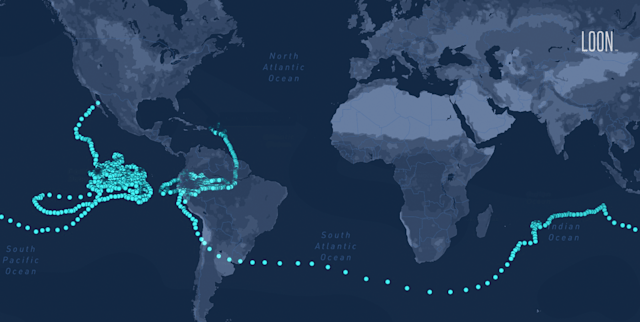 Alphabet Loon balloon sets stratospheric flight record of 312 days
