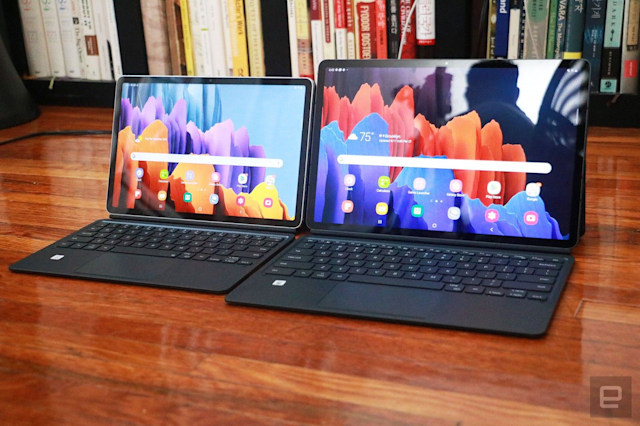 Samsung Galaxy Tab S7 and S7+