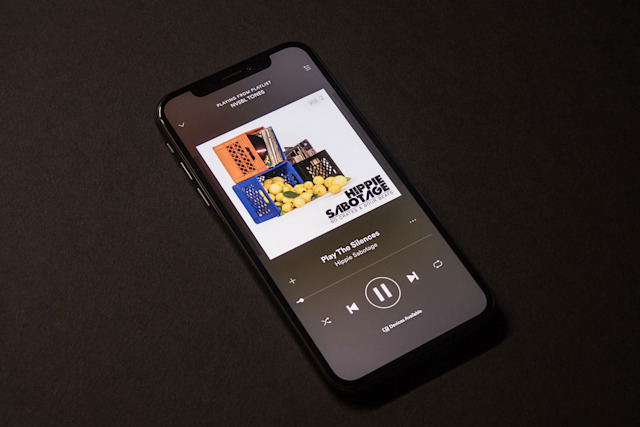 Spotify on an iPhone