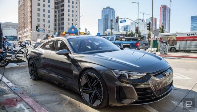 Audi E-Tron GT Concept parked