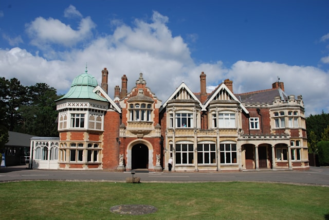 Bletchley / UK - July 2015: Bletchley Park Mansion in Buckinghamshire was the main base for Allied code breaking during World War II