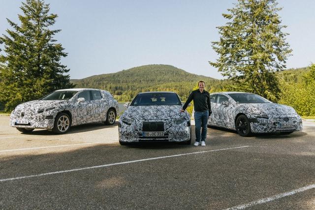 Mercedes-Benz EQS SUV, EQE, and EQS electric cars