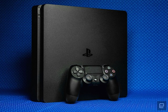 PS4 Slim with DualShock 4 controller