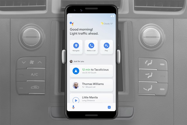 Google Assistant driving mode on Android