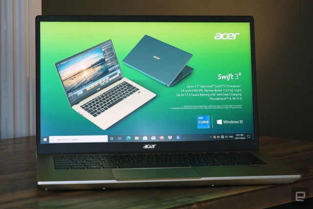 Acer's Swift 3X, the first laptop to pack Intel's Xe Max graphics.