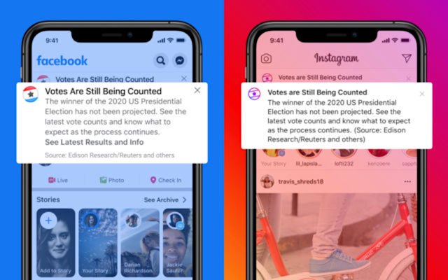 Facebook and Instagram notification