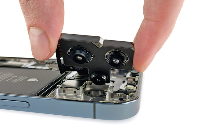 Apple iPhone 12 Pro Max teardown with camera removed
