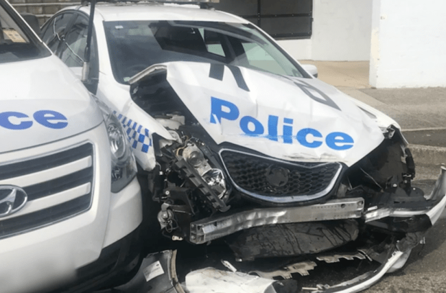 Van carrying meth worth £112m crashes into police car
