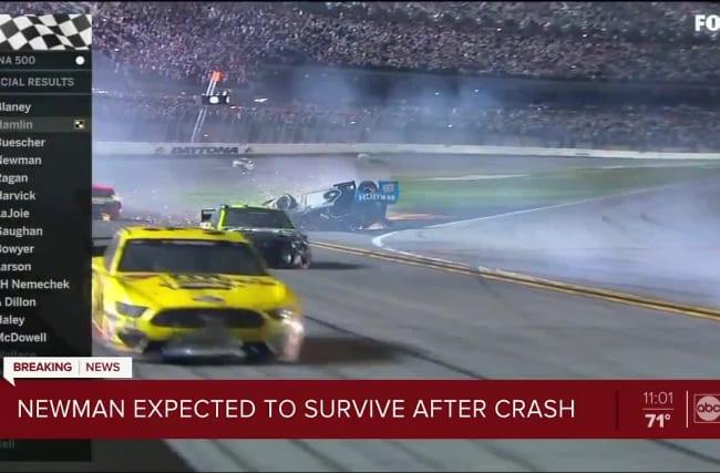 Ryan Newman hospitalised after terrifying crash at Daytona
