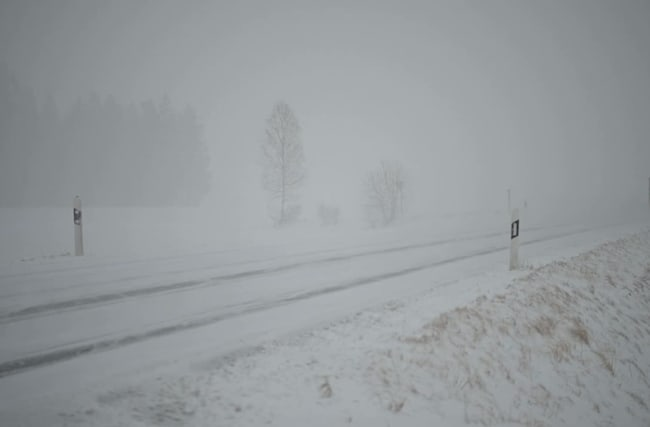 Der Februar verabschiedet sich mit Schneefall