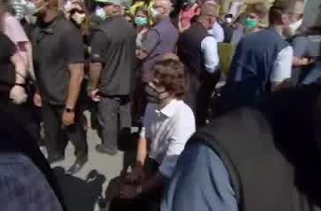 Justin Trudeau takes a knee during anti-racism protest