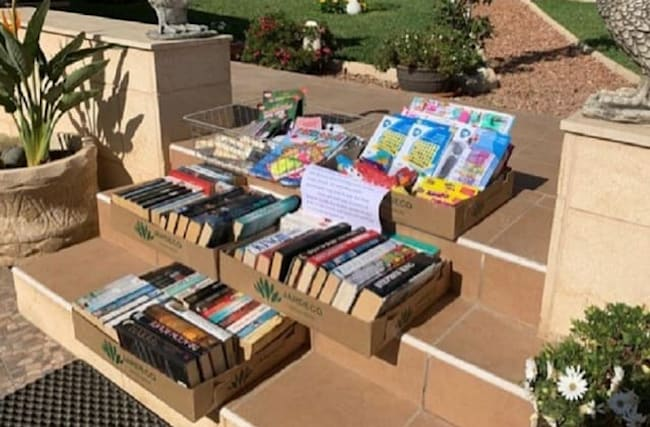 Books donated by locals to help quarantined Brits in Tenerife